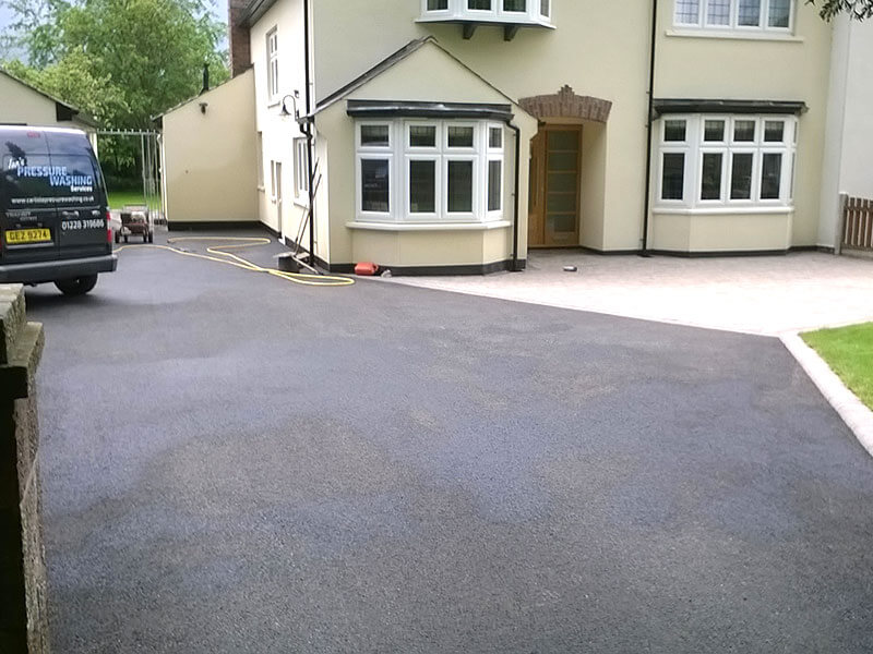 Driveway in Carlisle after pressure washing